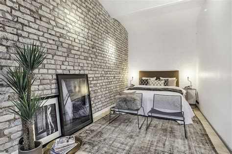 Parete Di Pietra Interna - camere da letto con pareti in pietra