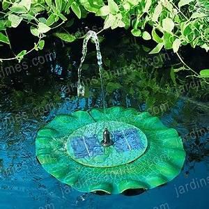 Fontaine Solaire Pour Bassin : fontaine solaire n nuphar sujet fontaine pompe bassin ~ Melissatoandfro.com Idées de Décoration