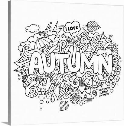Coloring Autumn Canvas Entitled