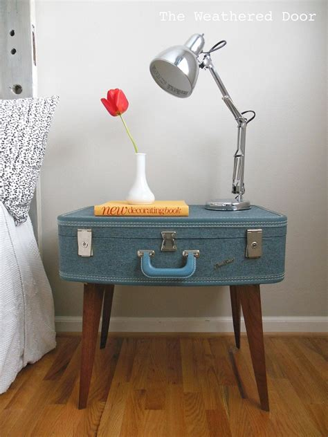 Suitcase Nightstand by Diy Furniture Ideas Turning Suitcases Into Fancy