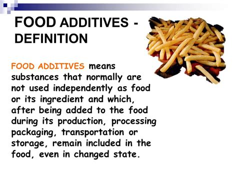 cuisines definition additives and hazards in food ppt