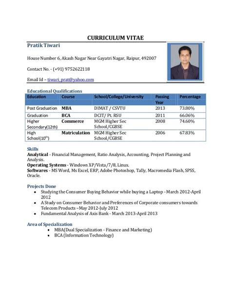 Information Security Resume Format For Freshers by Doc Resume Format For Freshers Resume Format