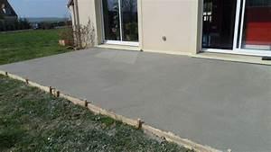 Dalles Beton Terrasse : terrasse beton dalle nos conseils ~ Melissatoandfro.com Idées de Décoration