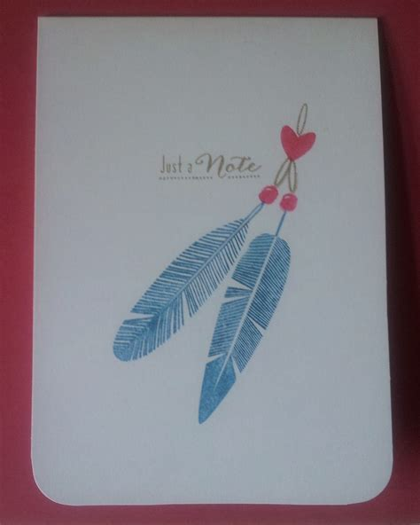 funky feathers stamp set wms cards crafts paper