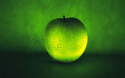 Green Colour 3d Wallpaper by Green Color 3d Apple Fruit Hq Wallpapers Background Free