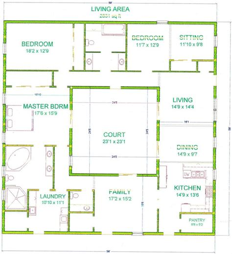 central courtyard house plans house search and squares on