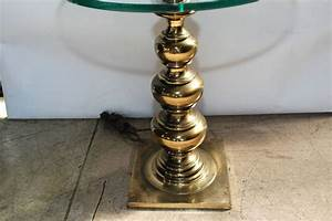 amazing stiffel brass and glass table lamp at 1stdibs With stiffel floor lamp with glass table