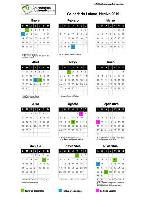 calendario laboral huelva