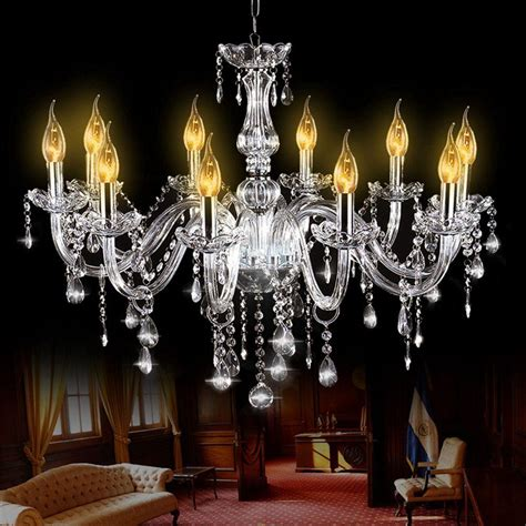 Large Foyer Chandeliers by E12 Silver Glass 10 Heads Chandelier Modern Large