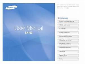 Samsung Digital Camera Sh100 User Manual By David Louis
