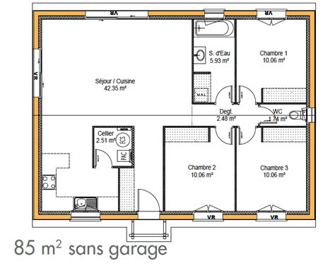 plan maison plain pied 4 chambres garage affordable de maison simple immo plan de maison simple et
