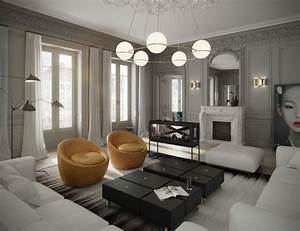 classic parisian apartment has a fish tank as a bar and a With kitchen colors with white cabinets with map of paris wall art