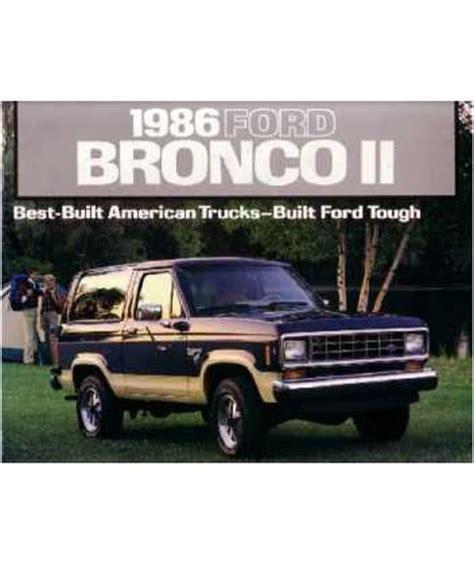 ford bronco ii sales brochure