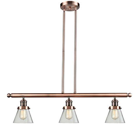 pendant lights for kitchen islands innovations lighting glass cone 3 light kitchen island