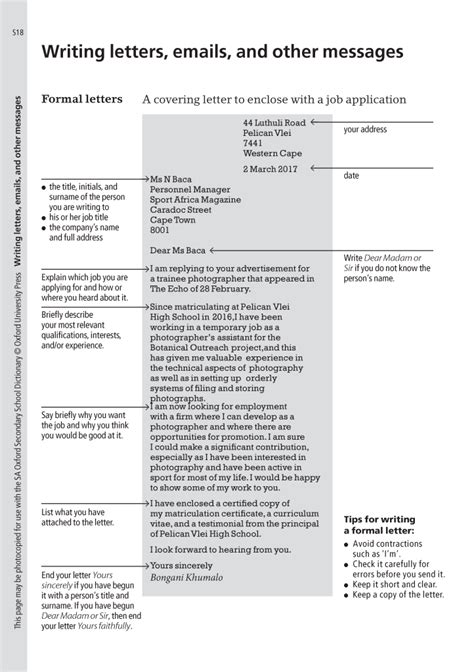 How To Right A Cv by Oxford Sa After Matric How To Write The