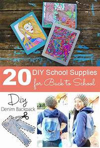 DIY Schol Supplies for Back to School - Crafting a Green World
