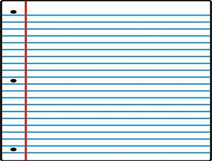 Notebook Paper Template Printable