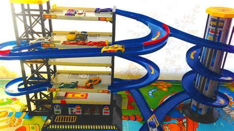 toy car garage parking playset  hot wheels cars toys