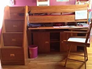 Lit Bureau Enfant : lit mezzanine gautier occasion clasf ~ Farleysfitness.com Idées de Décoration