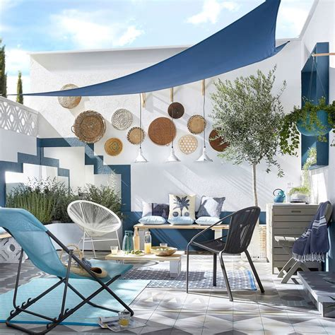 deco jardin ambiance lounge  cosy terrasses voile