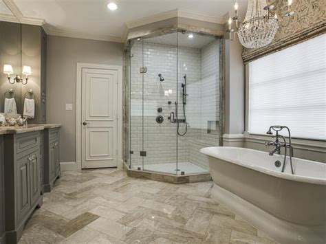 provincial bathroom ideas country house tour white subway tiles in shower