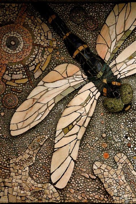 petit cabinet de curiosites jjones186 mosaic dragonfly