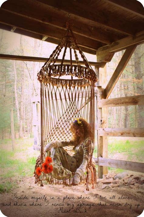 majik horse bohemian hippie macrame chair macrame