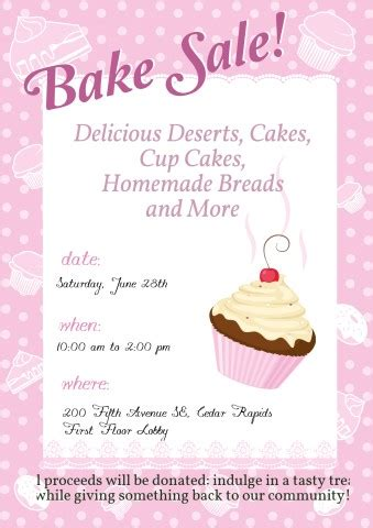 bake sale template bake sale poster template bake sale ideas for your posters