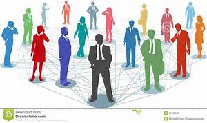Connect Business People Network Connections Stock Vector ...