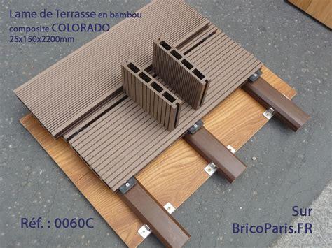 lame de composite lame de terrasse bambou composite colorado