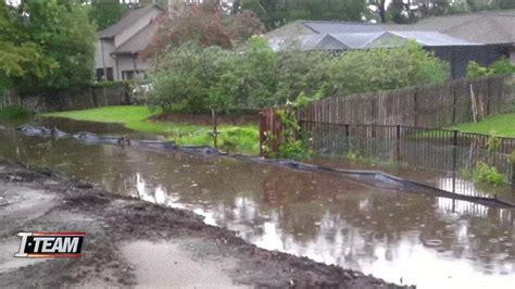 raw sewage  leaking  backyards