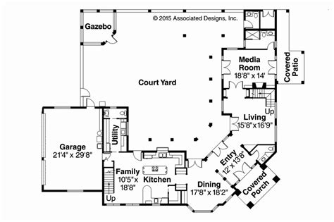 tuscan mediterranean house plans courtyard interior awesome home mexican style small