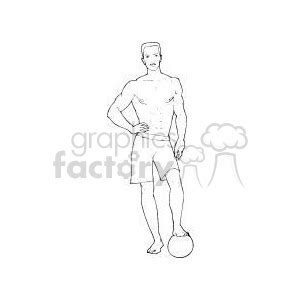royalty  man standing   foot   volleyball