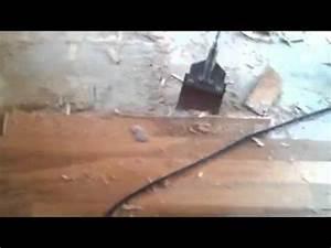 removing glued hardwood floor from concrete youtube With how to remove glued hardwood floor