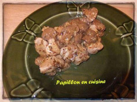 moutarde blanche en cuisine recettes de sauté de porc moutarde de papillon en cuisine