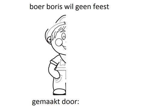 Nationale Voorleesdagen 2017 Kleurplaat by Kinderboekenweek Boer Boris Wil Geen Feest Spiegelen