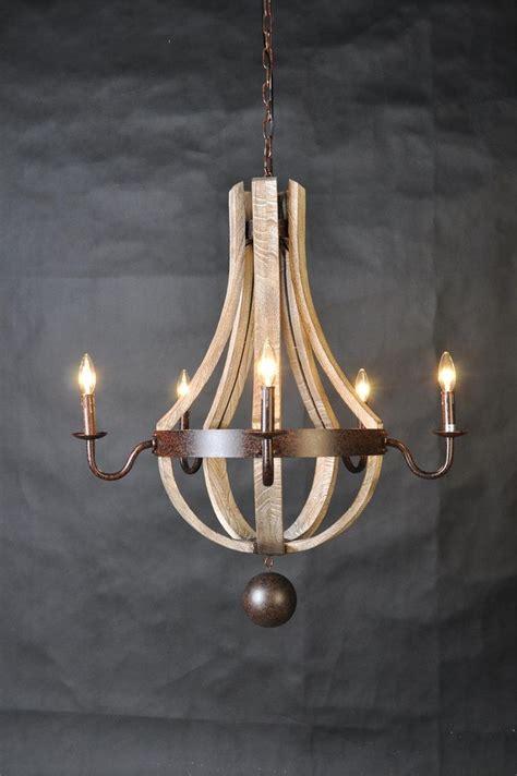 barrel chandelier lighting wine barrel 5 arm chandelier shabby chic chandelier
