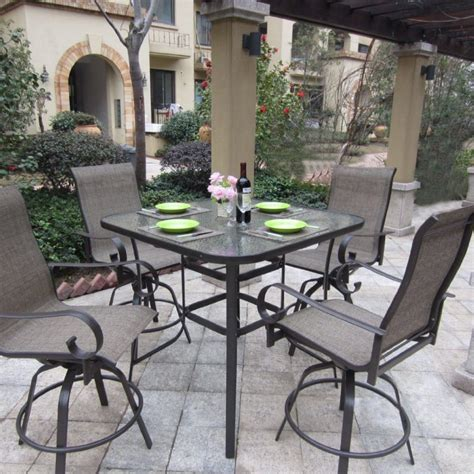 tall outdoor bistro table set furniture bistro sets patio dining furniture patio