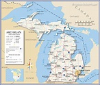 Map of the State of Michigan, USA - Nations Online Project