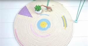 Tapis En Corde : fabriquer un tapis rond en corde marie claire ~ Teatrodelosmanantiales.com Idées de Décoration