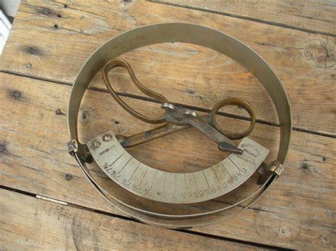 antique osborn bros hat sizing tool ring scissor style