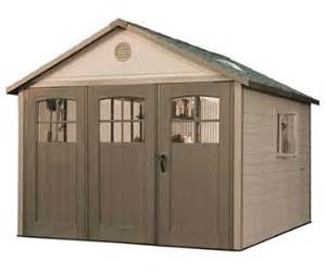 lifetime 11x18 plastic storage shed w wide doors 60236