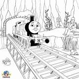 Thomas Coloring Friends Train Bridge Colour Engine Railway Tank Wooden Pages Hiro Edward Games Cartoon Locomotive Children Comic Face Number sketch template