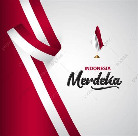indonesia merdeka flag vector template design illustration