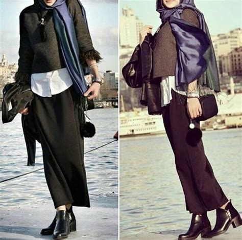 winter hijab fashion outfits  trendy girls
