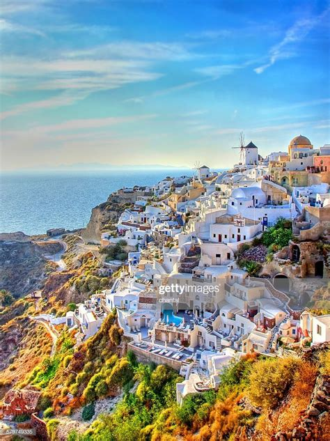 City Of Oia At Santorini Greece Stock Photo Getty Images