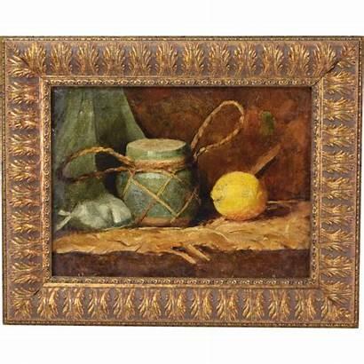 Still Lemon Paintings Painting Lemons Oil 19th