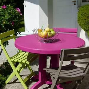 Table De Jardin Solde : table ronde de jardin vega grosfillex ~ Teatrodelosmanantiales.com Idées de Décoration