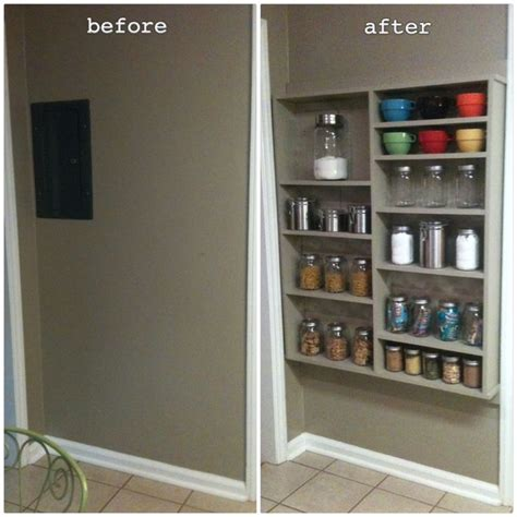 Depth Of Pantry Shelves Shallow Open Pantry Shelves In Kitchen Ideas For Remodel