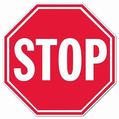 Octagon Stop Sign Shaped Corrugated Signs Clipart